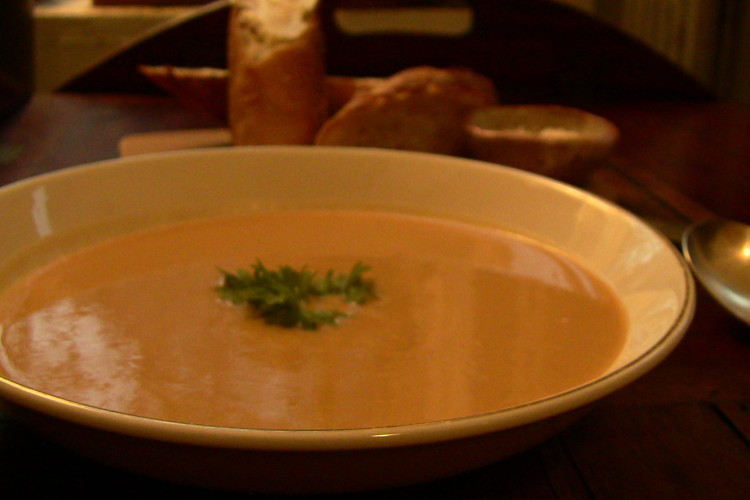Lentil Soup with Sweet Potato and Pancetta