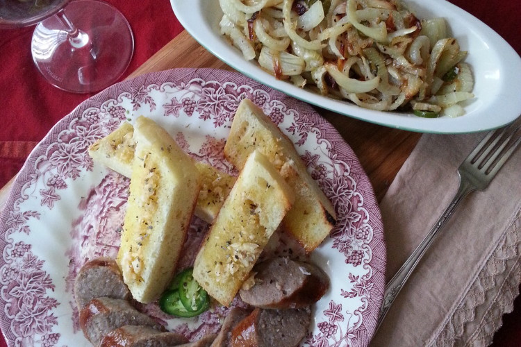 The Meat Hook's Bratwurst with Caramelized Fennel & Onion