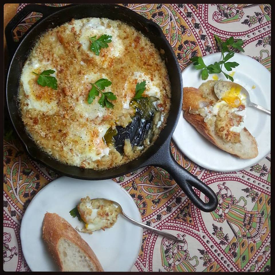 Salt Cod Brandade with Baked Eggs
